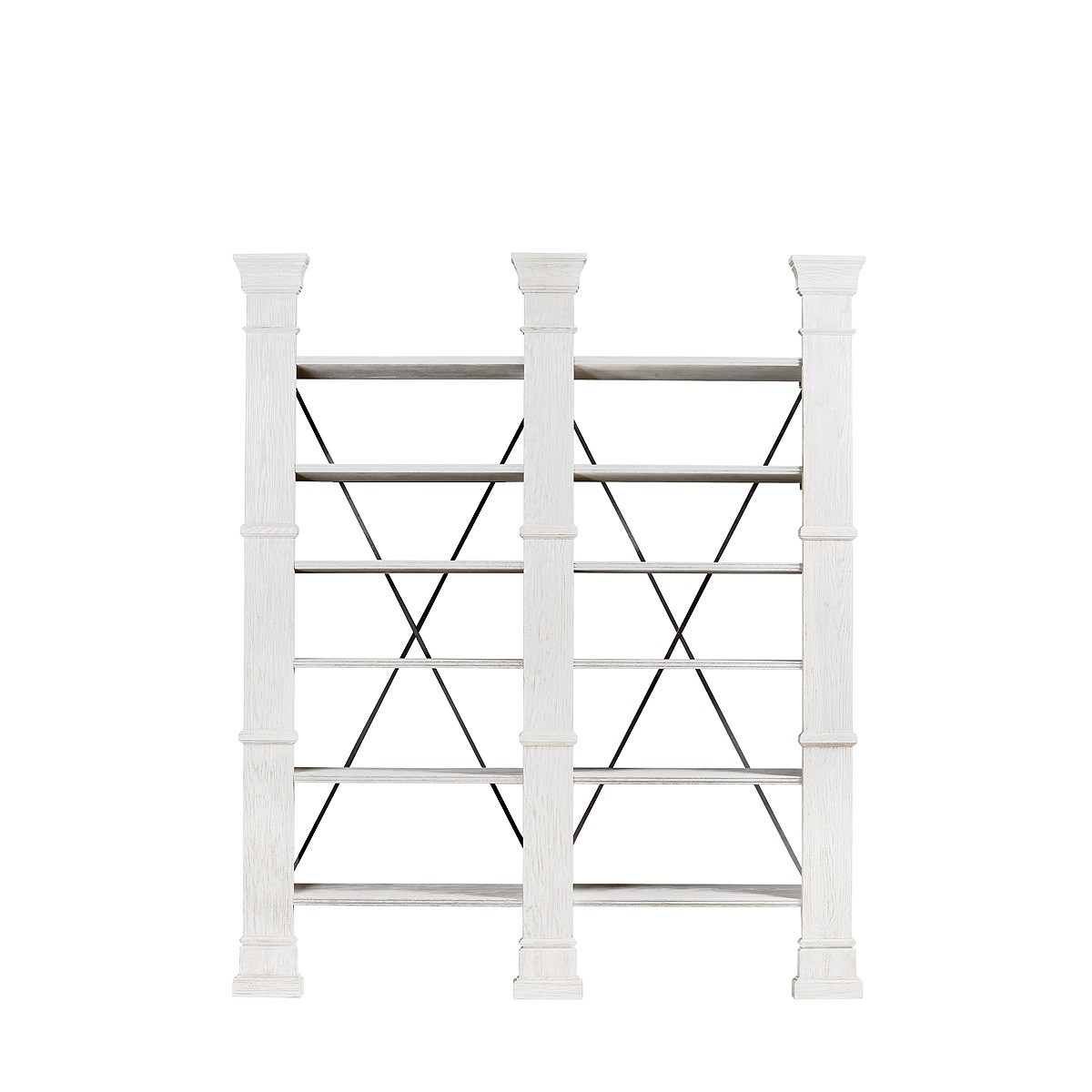 Книжная полка X-CROSS WHITE DOUBLE BOOKSHELF