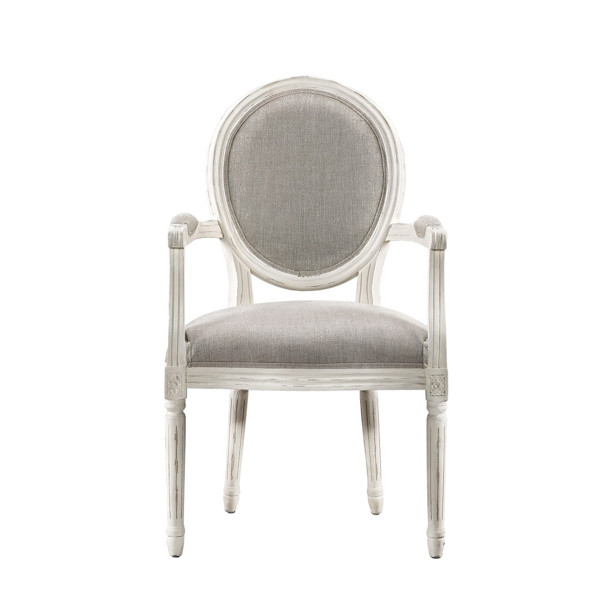 Стул Vintage Louis Round Vintage White Arm Chair