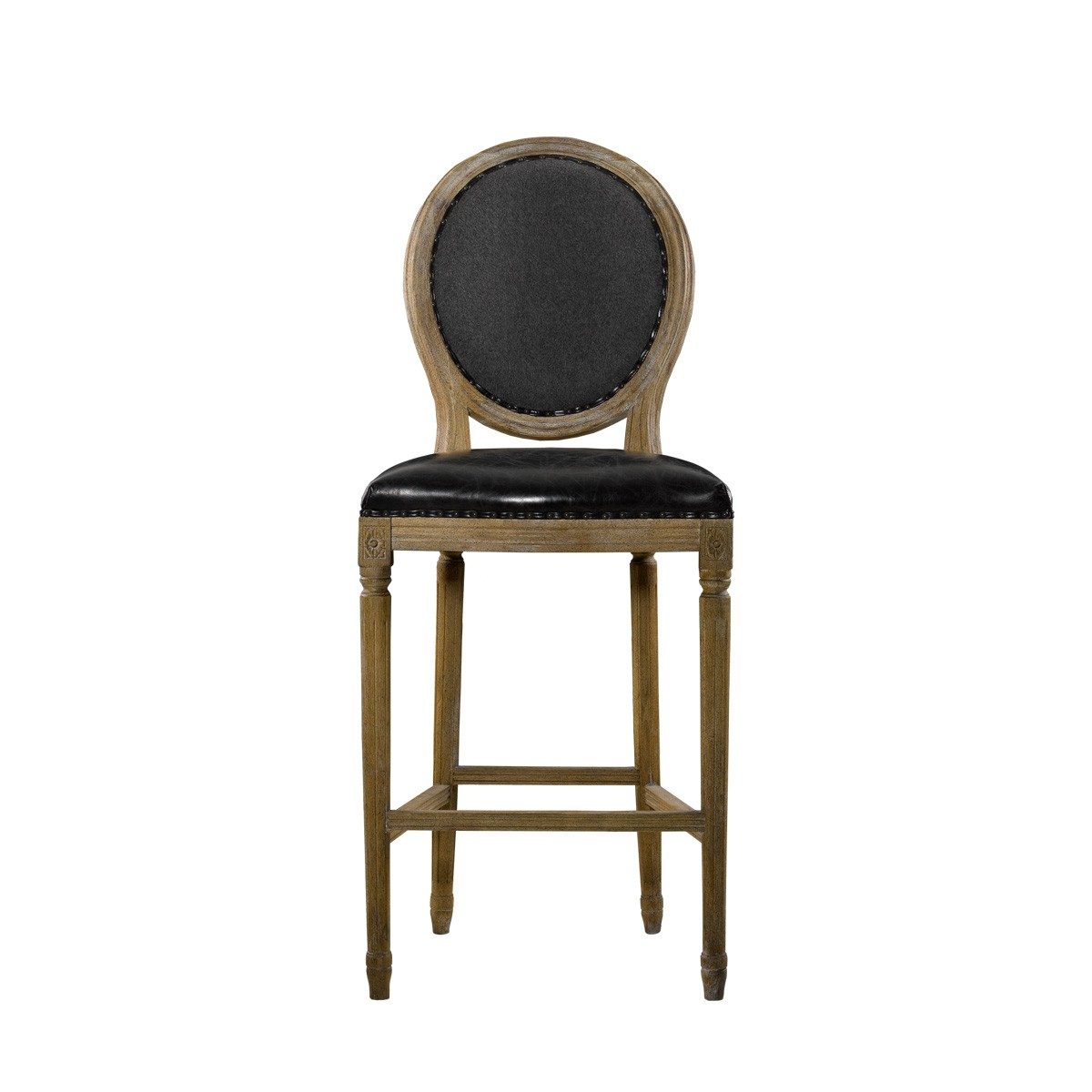 Стул VINTAGE LOUIS SLATE BACK HIGH BAR STOOL