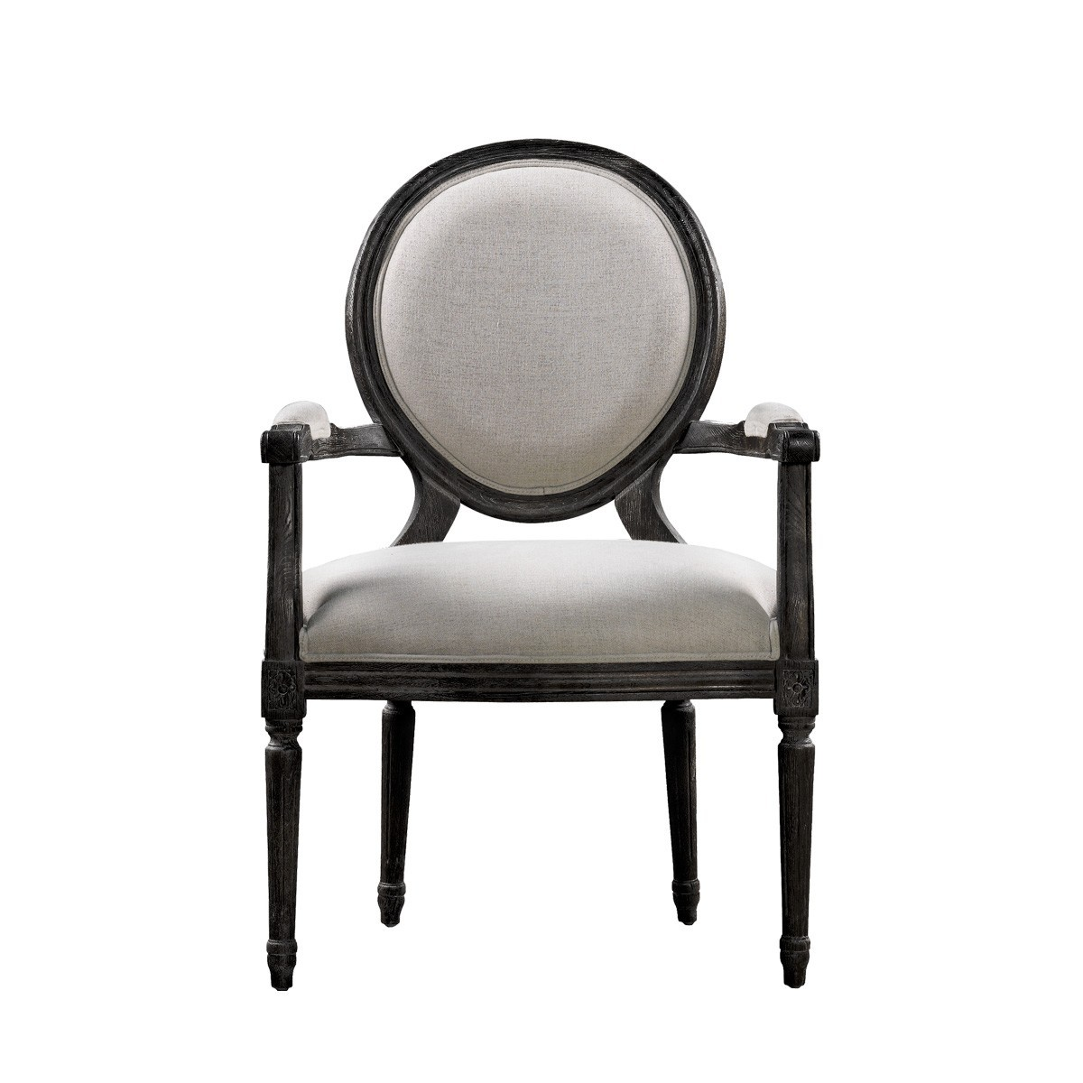 Винтажный стул VINTAGE LOUIS ANTIQUE BLACK ARM CHAIR