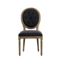 Стул VINTAGE LOUIS ROUND BUTTON INDIGO SIDE CHAIR