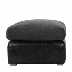 Кожаный пуфик WINSLOW OTTOMAN WOOL/LEATHER