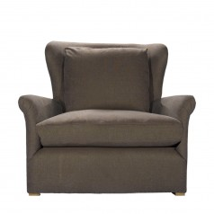 Кресло WINSLOW LOUNGE CHAIR BROWN LINEN