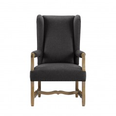 Стул BELGIUM WING WOOL ARM CHAIR