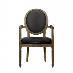 Стул VINTAGE LOUIS SLATE ROUND ARM CHAIR