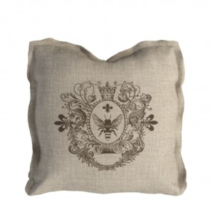 Logo Pillow Beige Linen