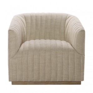 Кресло Sete Strip Linen Swivel Arm Chair