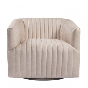Кресло SETE STRIP LEATHER SWIVEL ARM CHAIR