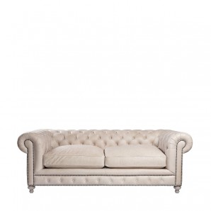 "Диван 90"" CIGAR CLUB SOFA - GRANITE LEATHER"