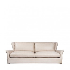 Диван WINSLOW LEATHE SOFA VELVET BACK