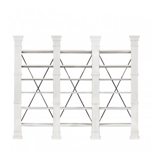 Книжная полка X-CROSS WHITE TRIPLE BOOKSHELF