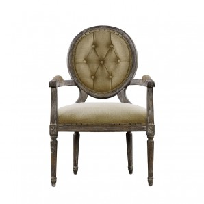 Стул VINTAGE LOUIS ROUND BUTTON ARM CHAIR