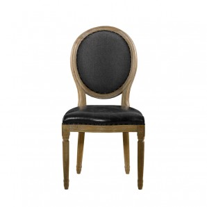 Стул VINTAGE LOUIS SLATE ROUND SIDE CHAIR