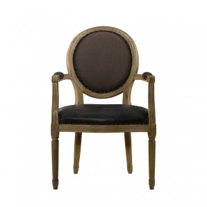 Стул VINTAGE LOUIS GLOVE ROUND ARM CHAIR