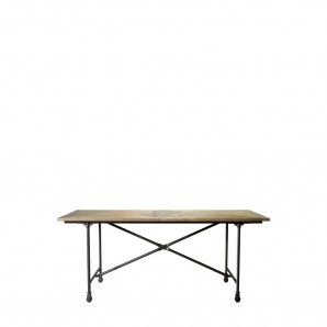 "Стол 72"" VINTAGE WOOD & METAL TABLE"