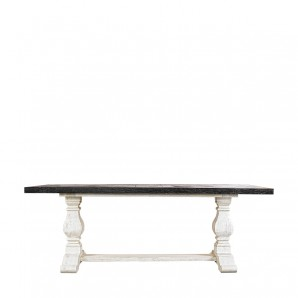 Уникальный стол 84'' New Trestle Vintage Black & White  Table