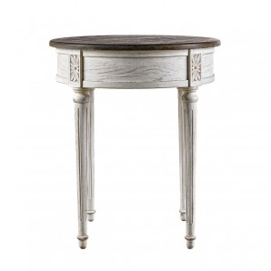 Стол English Round Vintage White Side Table