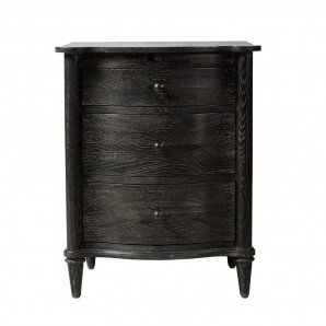 Тумба BAXLEY NIGHTSTAND ANTIQUE BLACK CLOSED 24W