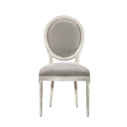 Стул  Vintage Louis Round  Vintage White Side Chair