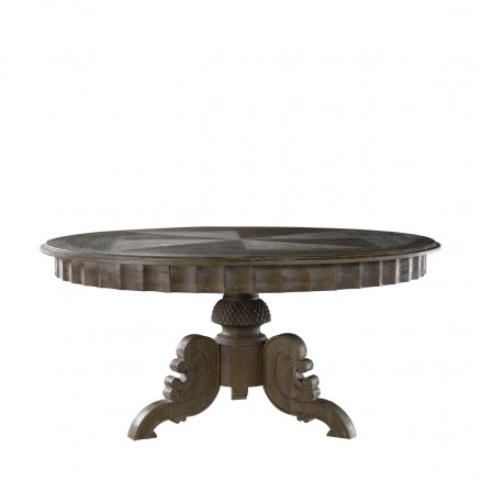 "Стол 63"" FRENCH ROUND GREY TABLE"