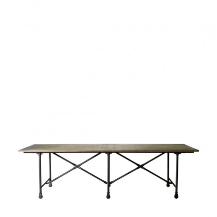 "Стол 106"" VINTAGE WOOD & METAL TABLE"