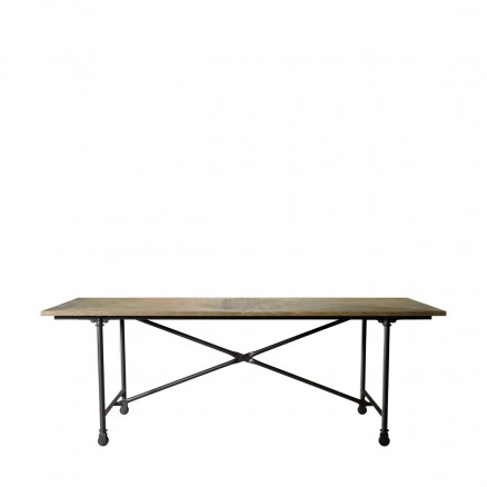 "Стол 86"" VINTAGE WOOD & METAL TABLE"