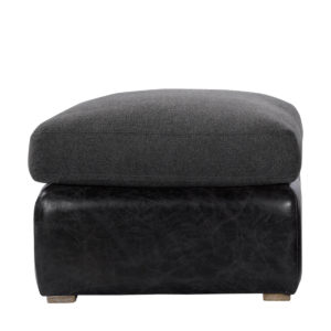 Кожаный пуфик WINSLOW OTTOMAN WOOL/LEATHER-0