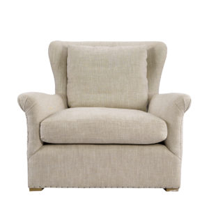 Кресло WINSLOW LOUNGE CHAIR BEIGE LINEN-0