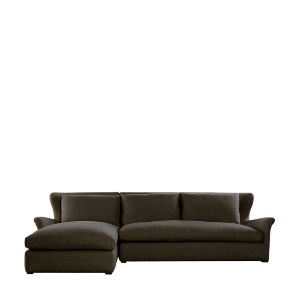 Диван WINSLOW SECTIONAL BROWN LINEN-0