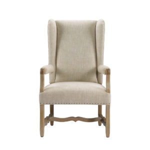 Стул BELGIUM WING LINEN ARM CHAIR-0