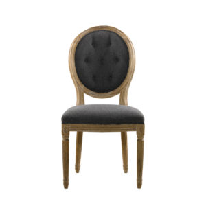 Стул VINTAGE WOOL LOUIS ROUND BUTTON SIDE CHAIR-0