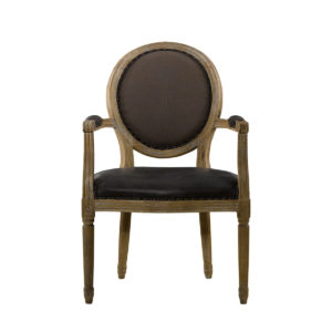 Стул VINTAGE LOUIS GLOVE ROUND ARM CHAIR-0