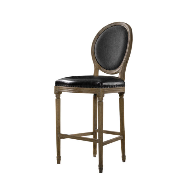 Стул VINTAGE LOUIS SLATE BACK COUNTER STOOL-385