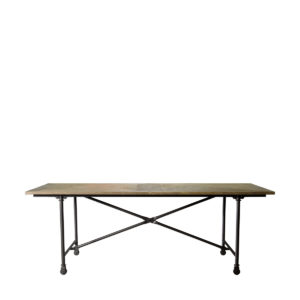 "Стол 86"" VINTAGE WOOD & METAL TABLE-0"