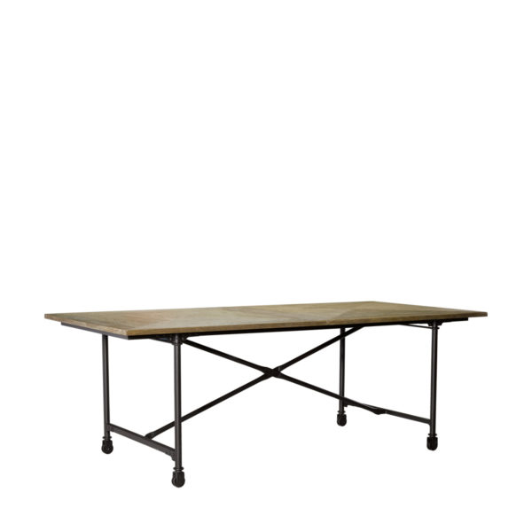 "Стол 86"" VINTAGE WOOD & METAL TABLE-1698"