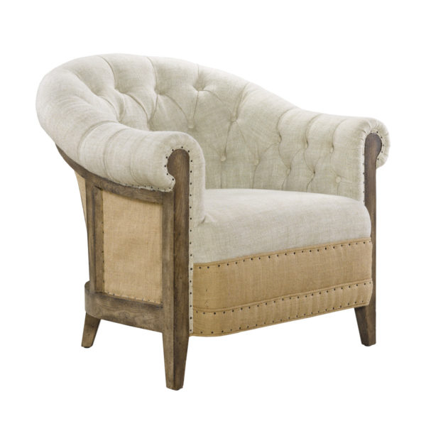 Стильное кресло Deconstructed Chambery Back Armchair-1588