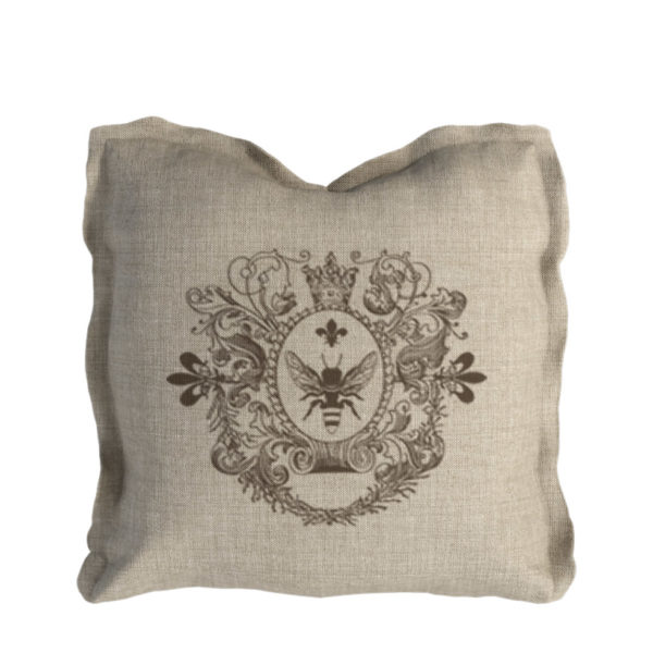 Logo Pillow Beige Linen-0