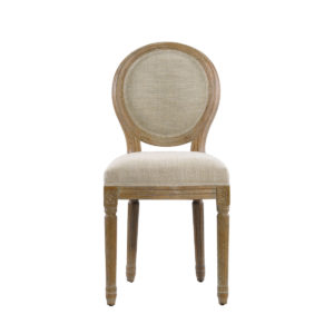 French mini linen chair-0