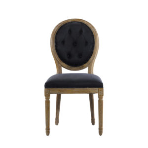 Стул VINTAGE LOUIS ROUND BUTTON INDIGO SIDE CHAIR-0