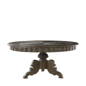 "Стол 63"" FRENCH ROUND GREY TABLE-0"