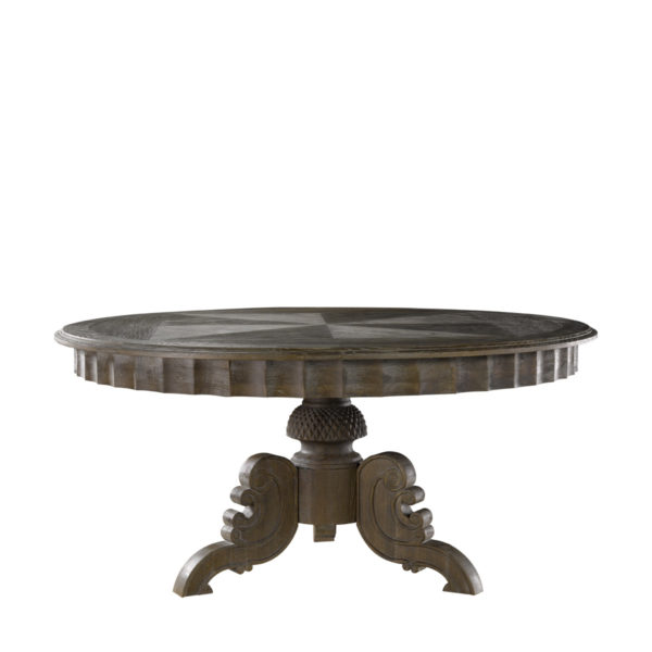"""Стол 63"""" FRENCH ROUND GREY TABLE-0"""