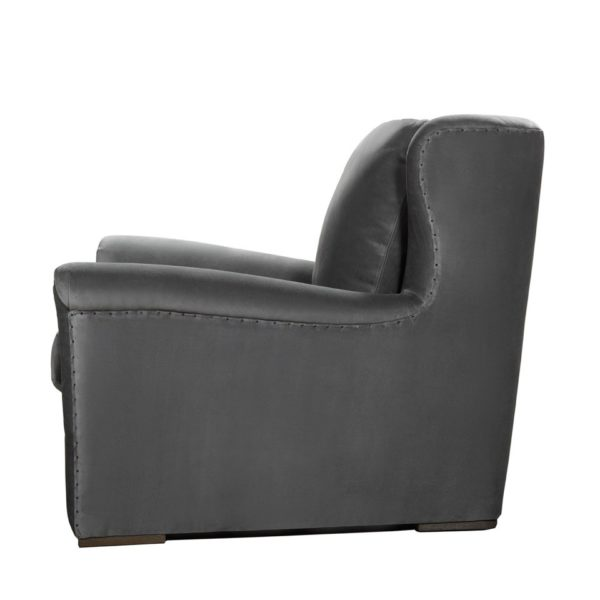 WINSLOW LOUNGE GREY VELVET CHAIR-2021