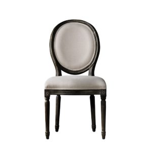 VINTAGE LOUIS ANTIQUE BLACK SIDE CHAIR-0