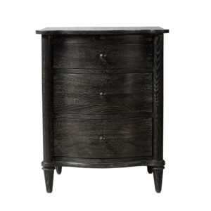 Тумба BAXLEY NIGHTSTAND ANTIQUE BLACK CLOSED 24W-0