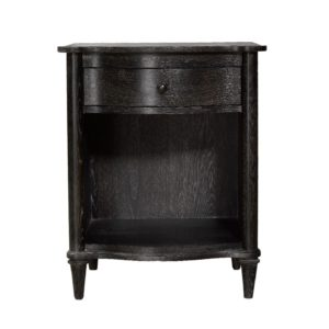 Тумба BAXLEY NIGHTSTAND ANTIQUE BLACK OPEN 24W-0