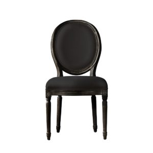 Стул VINTAGE LOUIS ANTIQUE BLACK SIDE CHAIR-0