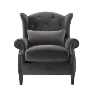 Lauran Velvet Arm Chair-0
