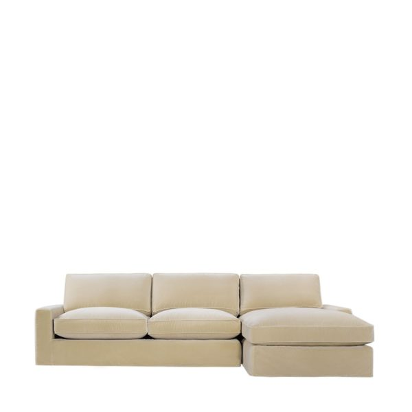 Классический диван Mons Velvet Upholstered RAF Sectional -RAF Chaise-0