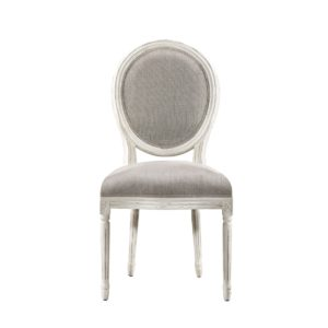 Стул Vintage Louis Round Vintage White Side Chair-0