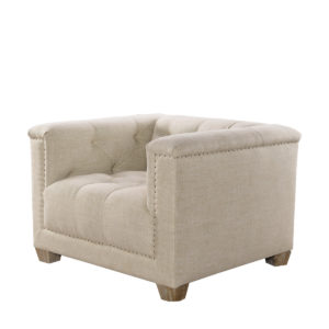 Кресло Bergamo Linen Arm Chair-0